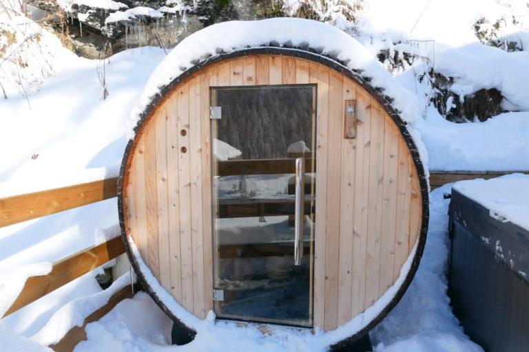 Chalet Sundance barrel sauna