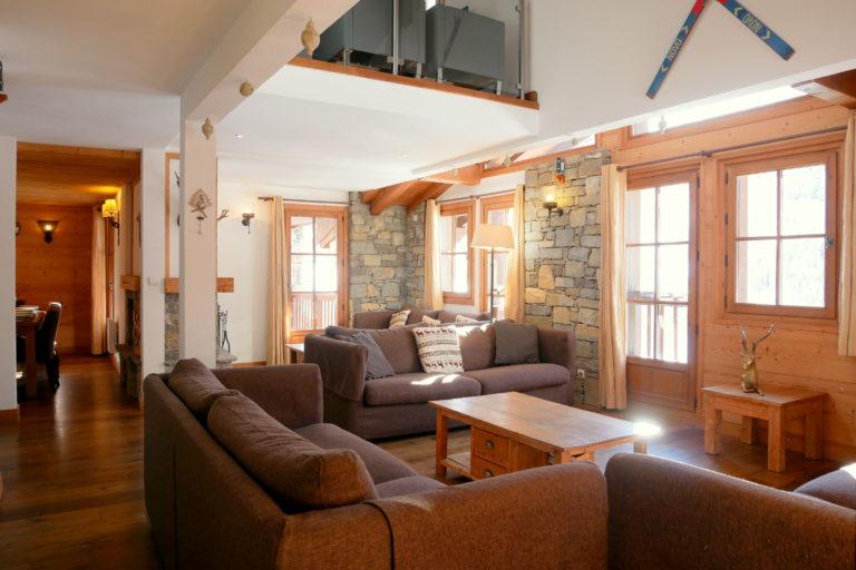 Chalet Le Vallon Living Area
