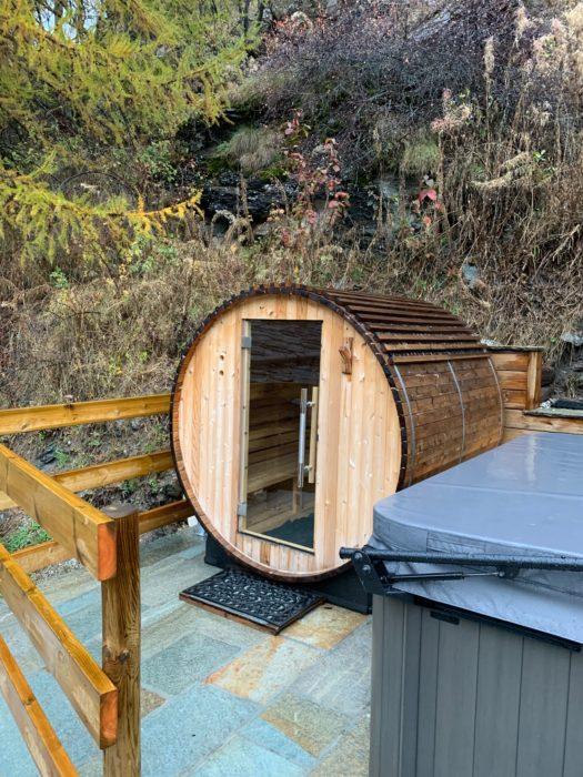 chalet sundance sauna