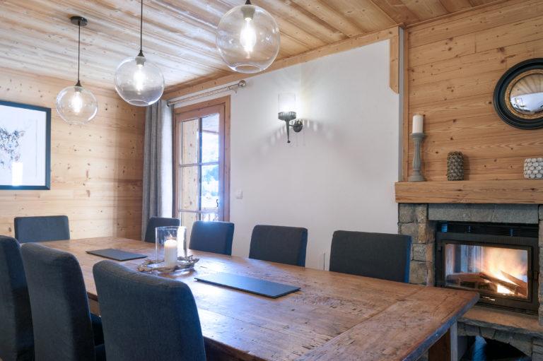 Chalet Sundance Tignes Dining Room Fireplace