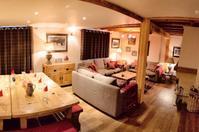 Chalet Arabette Tignes Living Area