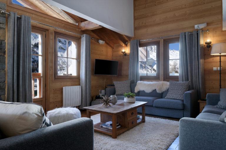 Chalet Sundance Tignes Lounge Reverse View