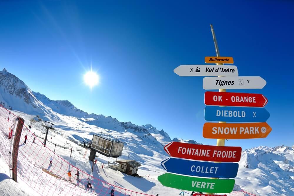 tignes val d'isere ski area